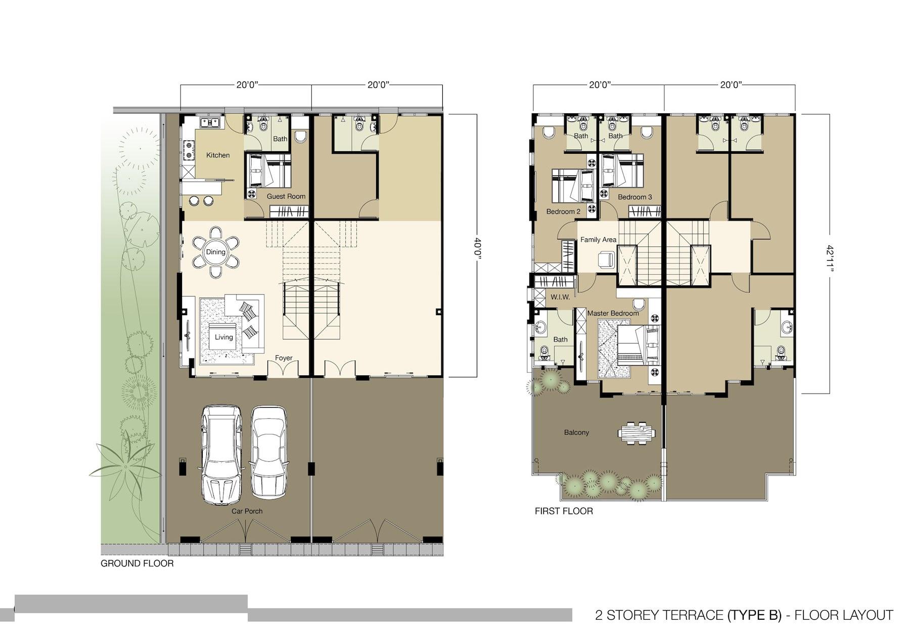 Tambun royale city royale nova for Floor plan samples for 1 storey house